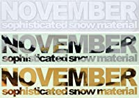 NOVEMBER【ノベンバー】ステッカー CUTTING LOGO! カッティングロゴ スノーボード ステッカー (WHITE)