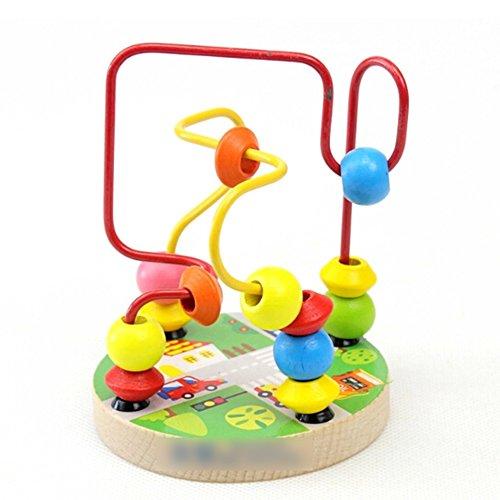 GGG Jouet de Bois Coloré Jouet Educatif de Maze Puzzle(Couleur Random)