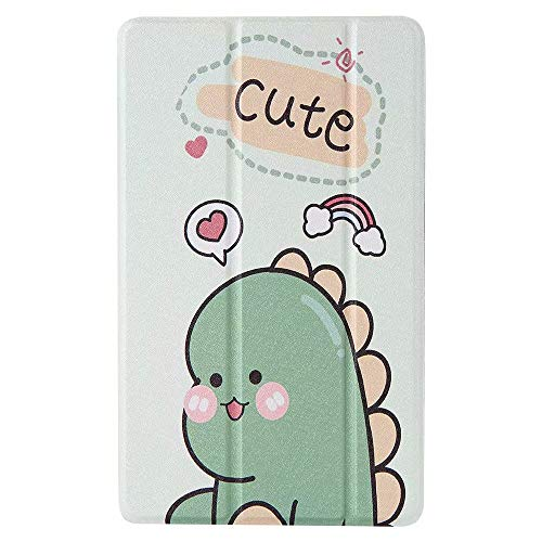 Case Fit All-New Fire HD 10 Tablet (7th Generation/9th Generation, 2017/2019 Release) Case, Shockproof Soft TPU Translucent Frosted Back Cover Slim Smart Shell, Auto Wake/Sleep Green dinosaur
