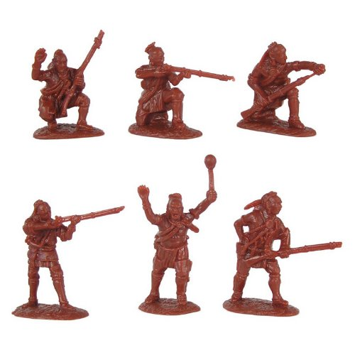 Armies in Plastic AIP5547 French & Indian War Woodland Indians Set 1 x 18