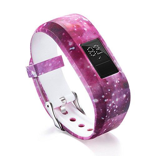 Uhrenarmbänder für Garmin VivoFit Jr/Jr 2 Kids' Fitness Armband, Silikon Replacement Uhrenarmband Sportarmband Band Erstatzband mit Schließe Bands Armband Band (E)