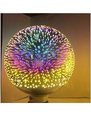 Zsheng 1 STKS 3D Vuurwerk G95 LED Filament Lampen E27 3D-ster 7W Edison Bulb Light Holiday Christmas Decoration Bar Glass Shell AC85-265V (Emitting Color : 3D Firework, Wattage : 7w)