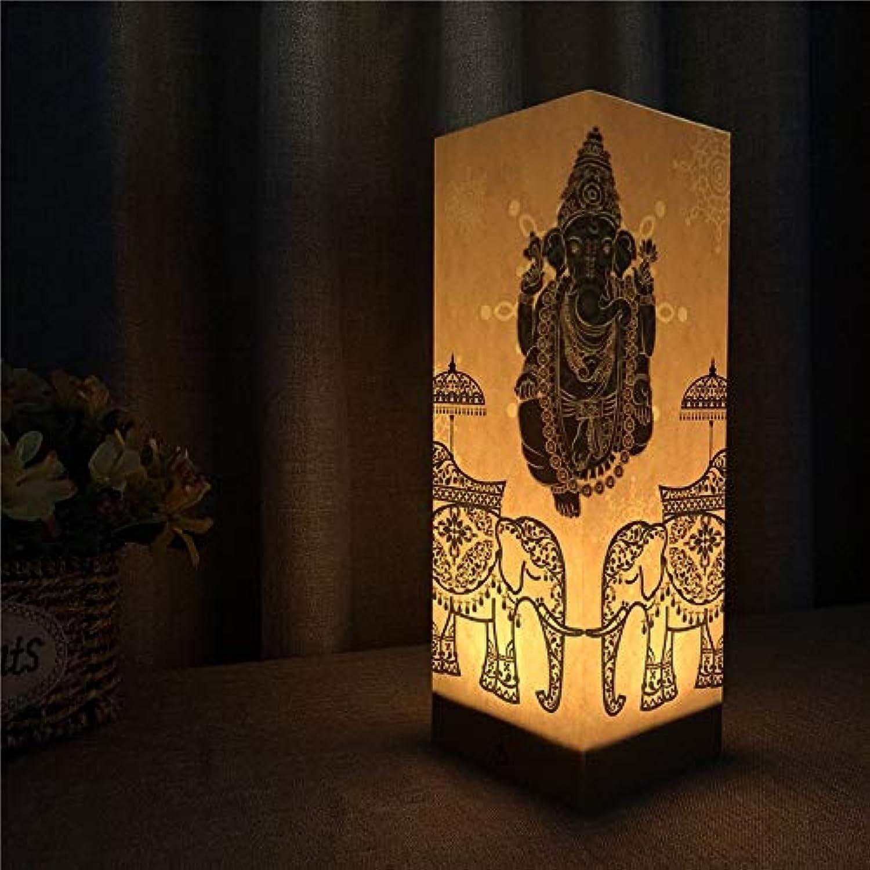 LDAKLE Kreative NachtlichterSchatten Lampe Papier Abs Basis Touch Sensor Elefant Schlafzimmer Lampe Flammendes Licht
