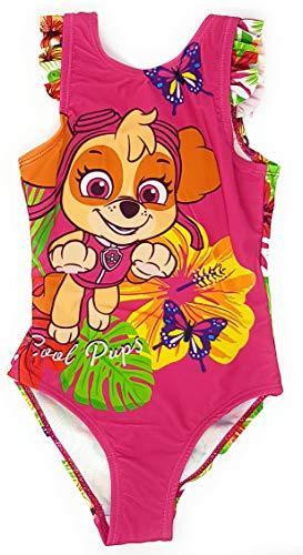 Paw-Patrol Mädchen Badeanzug (Pink 3, 3 Jahre (Herstellergröße 98))