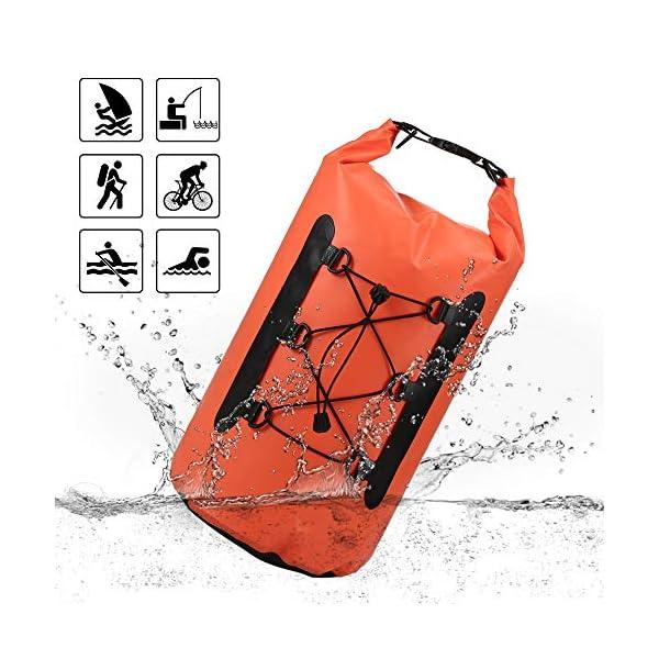 51v5pl8xcWL. SS600  - Lixada Bolsa Estanca Seca Impermeable Roll-Top Mochila Impermeable para Trekking Nadar Kayak Deportes Acuáticos 15L