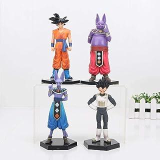 YYHJ Modelo Juguete Figurilla Coleccionable Colección De Regalos Creativos Regalo 4pcs / Set Dragon Ball Z Figuras Goku Champa Beerus Vegeta PVC Dragon Ball Z Figuras De Acción Modelo Juguetes Dragón
