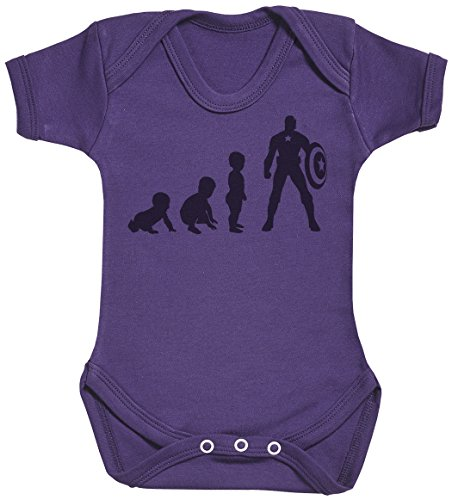 Baby Evolution to A Captain Baby Body bébé - Gilet bébé - Body bébé Ensemble-Cadeau - Naissance Violet