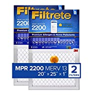 Filtrete 20x25x1 Smart Replenishable AC Furnace Air Filter, MPR 2200, Premium Allergen & Home Pollutants, 2-Pack