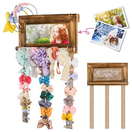 Pinzas para el Cabello Organizador Pinzas para el Pelo para Colgar en la Pared con Marco de decoración para niñas Habitación Accesorios niños Decoración de Pared habitación ⭐