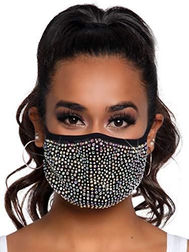 Leg Avenue Masque Zuri avec Strass et Poche filtrante, Taille Unique M1007 00122