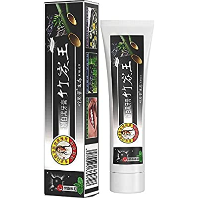 DISAAR BEAUTY Charcoal Bamboo Natural Whitening Formula Black Toothpaste Removes Stains Bad Breath 105g