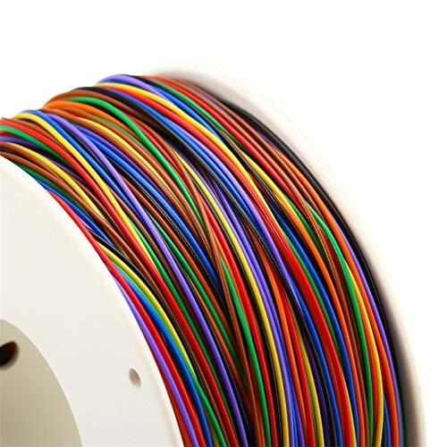 Electrical Wires 1 Rollo de envolver alambre 30AWG 0,25 mm con revestimiento de estaño alambre de cobre de envolver el aislamiento de cables de prueba 8-color placa de circuito Fly Line Decoration acc
