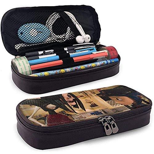 Cora-line Pencil Case, Fashion Leather 3D Printed Economic Pen Bag Pencil Pouch with Zipper