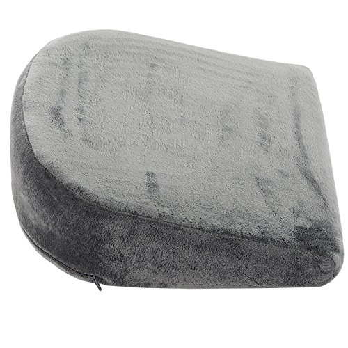 Cheer Collection Memory Foam Maternity Wedge Cushion   Pregnancy Pain Relief Belly Support Pillow with Removable Microplush Washable Cover