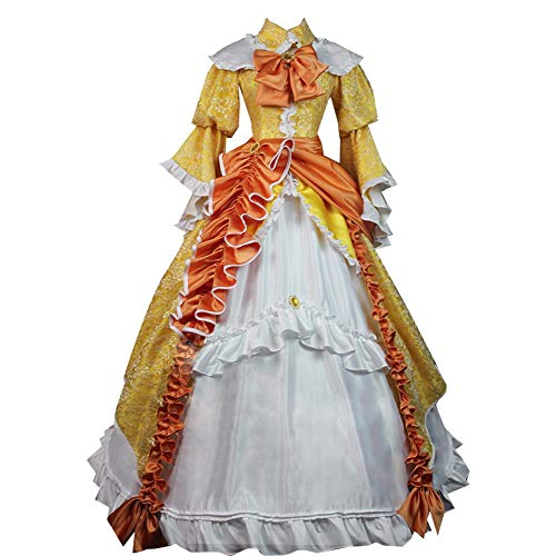 GZCOS Anime Kagamine Rin Cosplay Costume Women Gown Full Dress Halloween Yellow