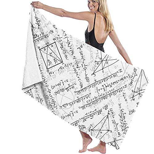 Toallas De Baño,Toallas De Mano,Bath Towel,Toallas De Playa,Toallas,Beach Towel,Fórmulas Y Ecuaciones Matemáticas Del Profesor Blancas Toallas De Baño Personalizadas De Alta Absorción Para Mujere