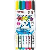 ぺんてる 水性ペン 洗たくでキレイカラーペン SCS2-6 6色