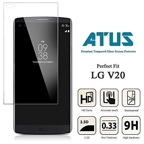 ATUS Ultra-Thin Shatterproof Tempered Glass creen Protector for LG V20 (2 pack)