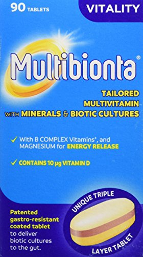 Seven Seas Multibionta Vitality, Multivitamin with Minerals and Biotic Cultures, 90 tablets