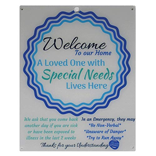 Rolling Buddies Special Needs Child Door Sign - Blue