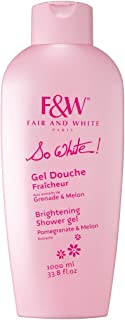 Fair & White So White! Refreshing and Brightening Shower Gel with Pomegranate & Melon Extracts, 1000ml / 33.8fl.oz.
