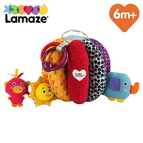 TOMY Lamaze - Ma Balle à Trésors L27150, Jouet d'Éveil pour Bébé, Peluche Bébé avec Anneau de Dentition, Jouet en Tissu Multicolore Convient aux Bébés dès 6mois+