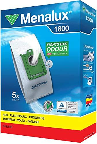 Menalux 1800 Pack con 5 bolsas y 1 filtro para aspiradores