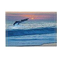 Assanu 自然の風景の装飾海洋野生のイルカは海のパターンの装飾の家から飛び出します