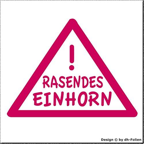 cartattoo4you® AK-01031 | RASENDES Einhorn | K-Serie | Autoaufkleber Aufkleber Farbe, pink, in 24 Farben erhältlich, glänzend 13 x 10 cm