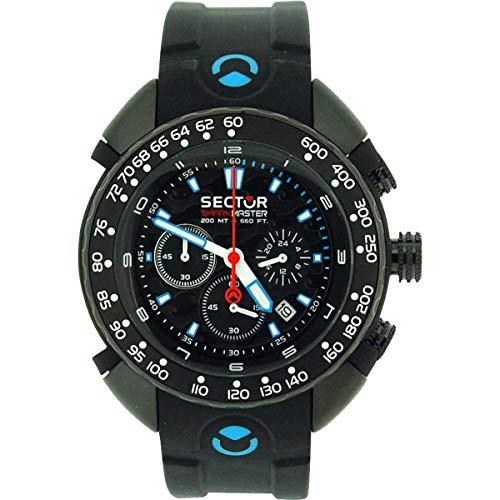 Sector R3271678125 - Orologio da polso da uomo, cinturino in silicone colore nero