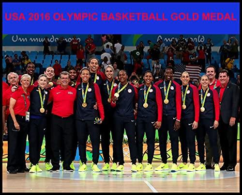 2016olímpicos de Estados Unidos las mujeres de baloncesto medalla de oro Río Brasil 8x 10Foto de equipo