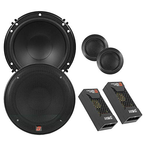 Price comparison product image CERWIN VEGA XED650C 6.5-Inch 300 Watts Max 2-Way Component Speaker Set,  Black