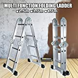 YINGGEXU Escalera plegable Escalera plegable telescópica Step Stand House Aluminio Ladders Telescopio Extensión multiusos Doblading Step Ladder 4.7m