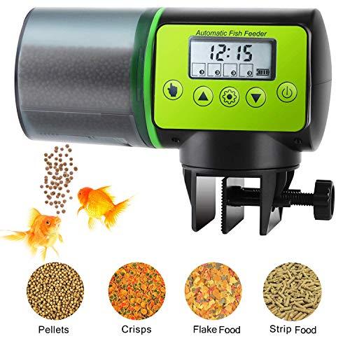 Podazz Automatic Aquarium Fish Feeder, Moisture-Proof Electric Auto Fish Feeder,Aquarium Tank Timer...