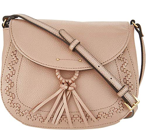 Tignanello Lillie Saddle Cross Body W/RFID Protection, Metallic Rose