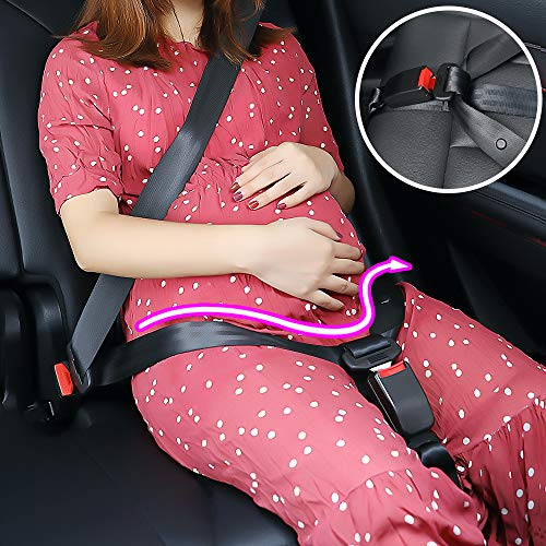 Great Features Of Bumper Belt Pregnancy Seat Belt Adjuster - Comfort & Safety Maternity Car Seat Bel...