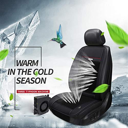 Yunhigh 12V Autositz Mit Lüfter Auto Kühlung Klimaanlage Sitz Sommer mit 3 Ebenen Belüftungsventilatoren Cold Pad Cool Down Belüftetes Auto Zubehör Sitz Schutzhülle mit Zigarettenanzünder