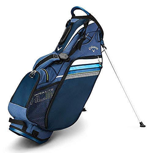 Callaway Golf 2019 Hyper Lite 3 Stand Bag, Navy/Blue/White, Double Strap