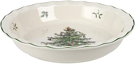 Spode Christmas Tree Pie Plate, 10-Inch