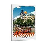 Malmo-Schweden-Poster, Filmdruck, Aufkleber,