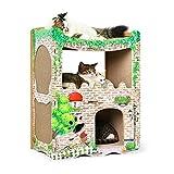 ZHAODONG Rettifica Claw Toy CP-252 Gatto Stampato Casa in Stile Occidentale Carta ondulata Cat...