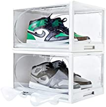Premium Reinforced Acrylic Shoe Box. Sneaker Storage For Sneakerheads. Upgrade Drawer Type Shoe Boxes Clear Plastic Stackable. Shoe Storage. 2 Clear Shoe Boxes Stackable & Shoe Tree. Large Drop Front Plastic Shoe Boxes With Lids. Cubby Shoe Organizer And Storage. Transparent Cap Box Hat Rack Storage Box. Vertical Shoe Holder. Zapatero Organizador. Zapateras Organizer For Shoes. White. Fit Men Size 12 13 14 15