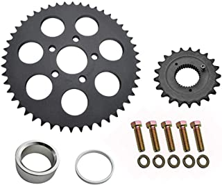 Twin Power Belt-to-Chain Conversion Kit - Fits 1991-2006 Harley Sportster XL Models - 21 Tooth Front Sprocket / 48 Tooth Rear Sprocket for 530x120 Chain - Made in USA (217453)