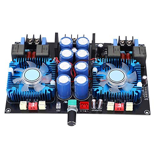 4-8Ω Dual Channel Audio Power Amp Board Gran disipación de calor 420W+420W AC 24V para el equipo del amplificador con las piezas de audio del ventilador