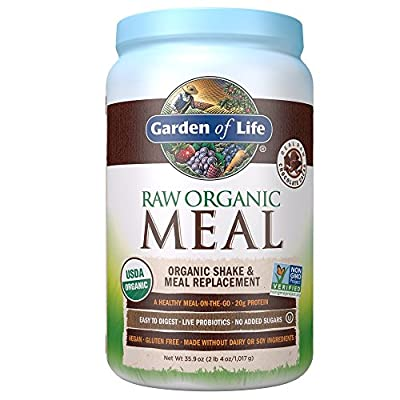 Garden of Life Meal Replacement - Organic Raw Plant Based Protein Powder, Lightly Sweet, Vegan, Gluten-Free