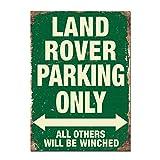 YASMINE HANCOCK Póster, Land Rover Parking Only, decoración Retro para Pared