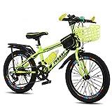 YUCHEN- Bicicletas Bicicleta Niño / 18 pulgadas / 20 pulgadas / 22 pulgadas Niño Chica Bicicleta Estudiante Viaje Bicicleta Velocidad Variable Velocidad \ u200B \ u200BCUSTOMIZACIÓN Bicicleta 5 ~ 15 a