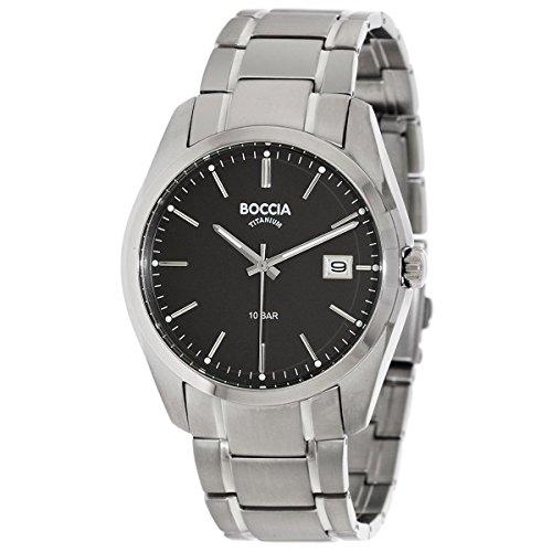 Boccia Herren Digital Quarz Uhr mit Titan Armband 3608-04