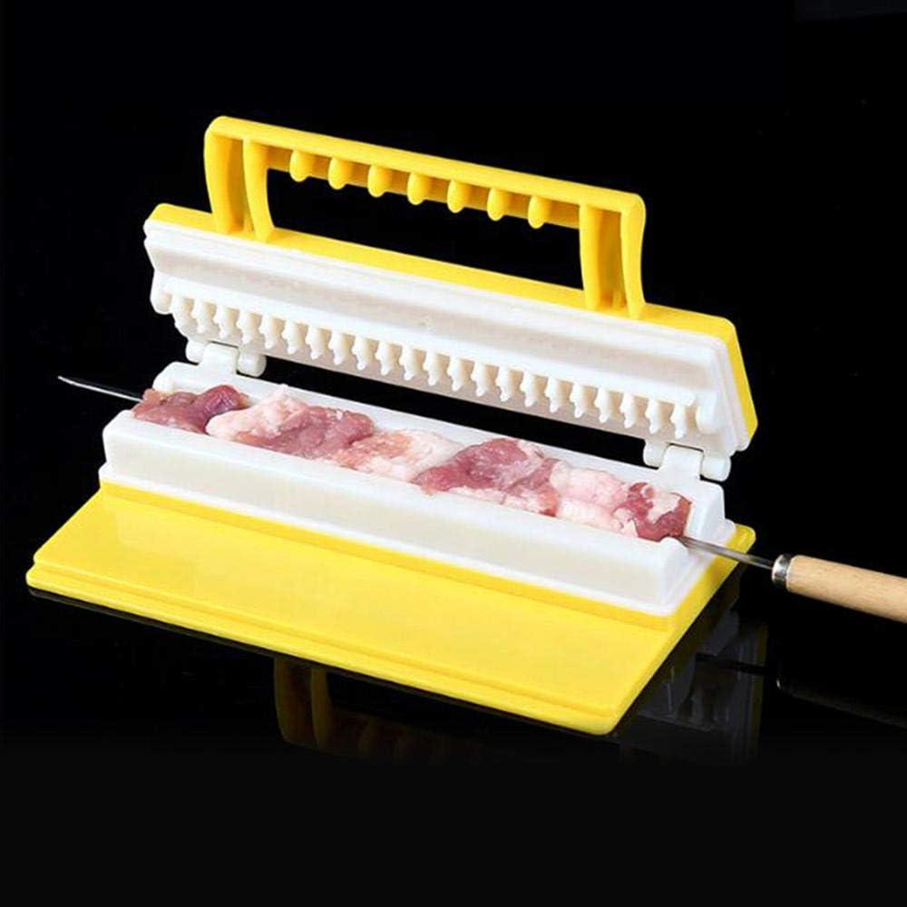 Generies 2020 Nouvelle Cuisine en Plein air Barbecue Kebab,Machine à brochette de Viande Double/Simple rangée brochette Rapide Outils de Barbecue faciles Double Row