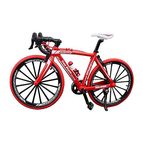 YEIBOBO ! Alloy Mini Bicycle Toy - Finger Bike for Collections (Bent Handlebar Racing Bike Red)